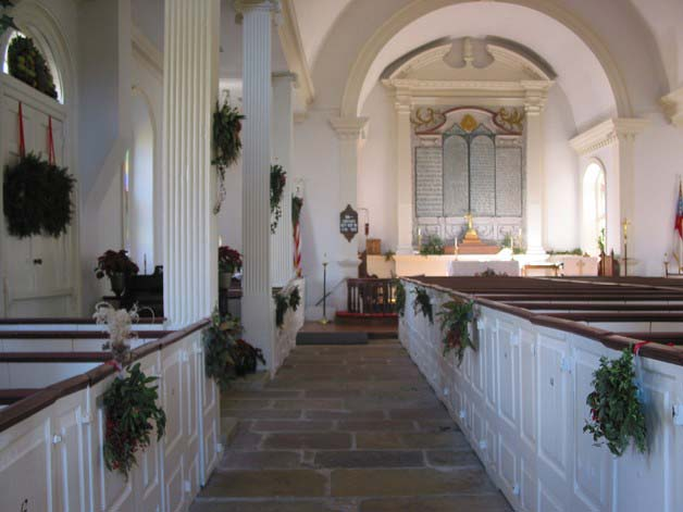 St. Andrews interior at Christmas